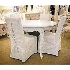 Shabby Chic Dining Table Set (1 Table 4 Chairs)