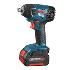 Bosch IWH181-01 18-Volt Lithium-Ion 3/8-Inch Square Drive Compact Impact Wrench Kit with 2 Batteries Charger and Case