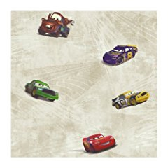 York Wallcoverings Disney Kids DK6119 Cars Racing Wallpaper Silver