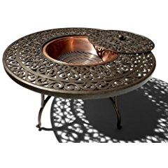 Strathwood St. Thomas Cast-Aluminum Fire Pit with Table