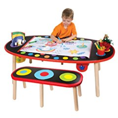 ALEX® Toys - Young Artist Studio Super Art Table /W Paper Roll -Wood 711W