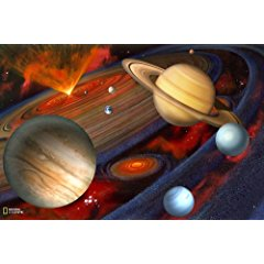 Brewster National Geographic Kids NG94613 Planets Wall Mural 72-Inch x 48-Inch